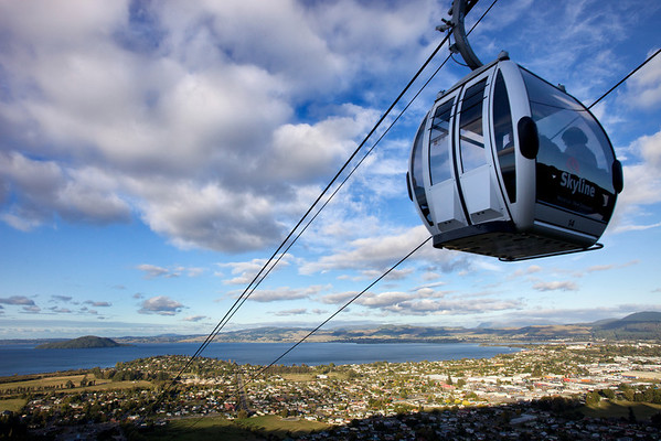 Skyline cable car in Rotorua