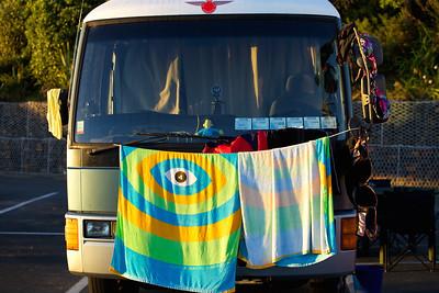 Campervan dry its  towels, Coromandel