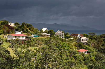 Rain approaches holiday homes in Kuaotunu