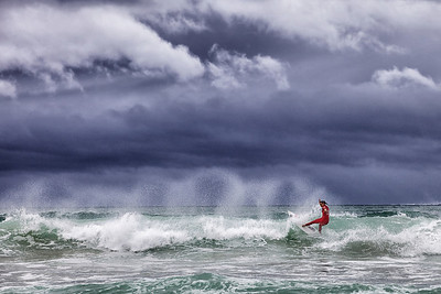 Surfer in Red