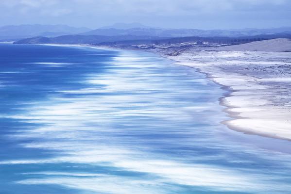 Te Arai beach from Mangawhai Heads, Northland