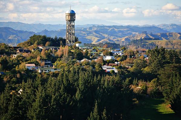 Tower viewed from Memorial Tower in Wanganui