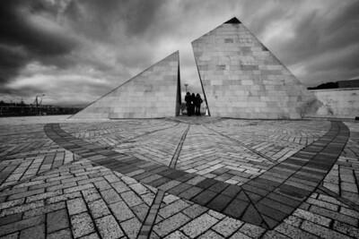 Geometric shapes at Civic Square, Wellington