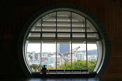 Round window at Te Papa, Wellington