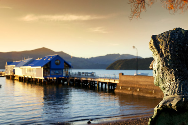 Commander Frank Arthur Worsley sculpture in Akaroa seafront