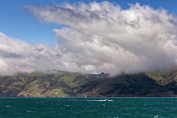 Weather approaching in Akaroa Harbour