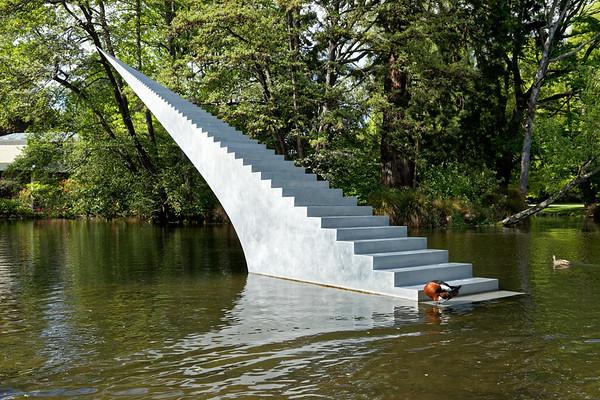 Sculpture in Botanical Gardens in Hagley Park, Christchurch
