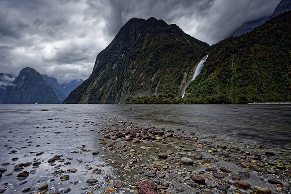 Lady Bowen Falls in Milford Sound, Fiordland National Park