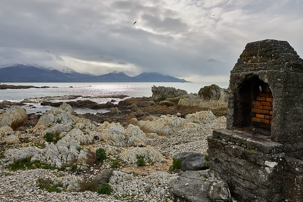 An abandoned shrine on the Kaikoura coast in Canterbury  in New Zealand's South Island