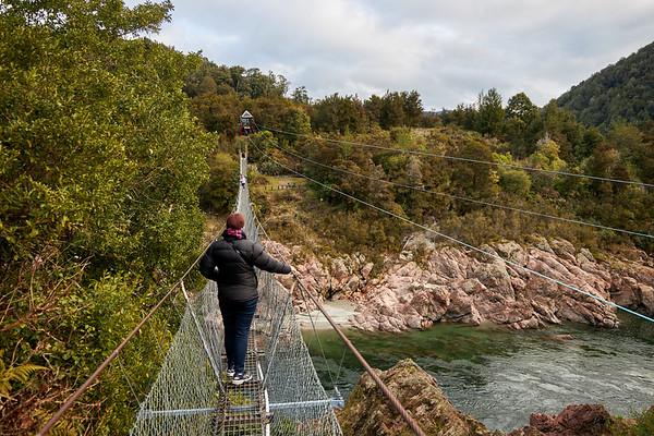 Buller Gorge Swing Bridge, New Zealand's longest swing bridge