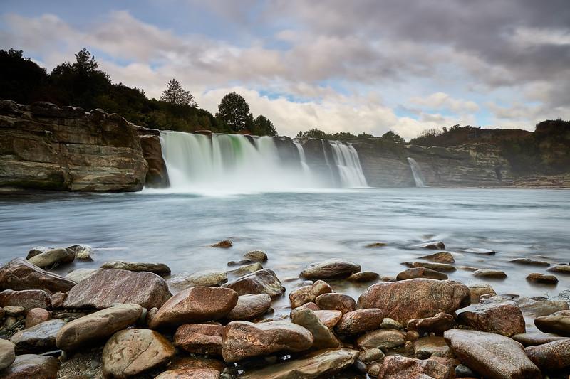 Maruia Falls near Murchison in the Buller Region of the South Island