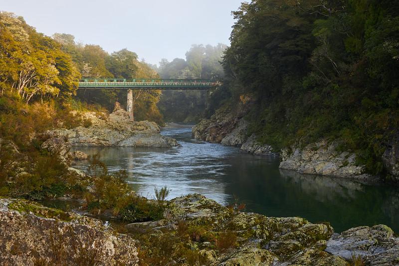 Pelorus Bridge Scenic Reserve near Havelock in Marlborough  in New Zealand's South Island