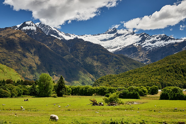 Alpine scenery, Mt Aspiring National Park, Otago
