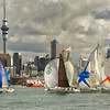 Yachts racing in the Waitemata Harbour, Auckland