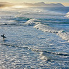 Evening surf at Te Arai Pt beach in Northland