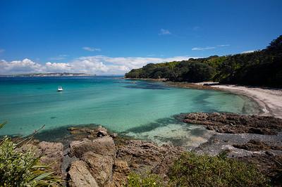 Hobbs Beach on the bird sanctuary island and reserve of Tiritiri Matangi