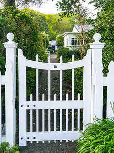 Gate to Hirst Historic Cottage  1886