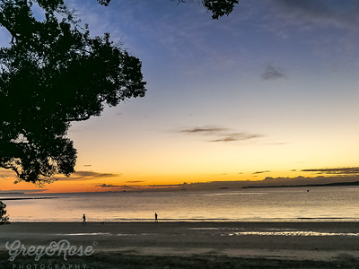 Morning walk on Takapuna Beach