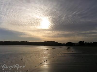 Cooks Beach in the Morning Light.