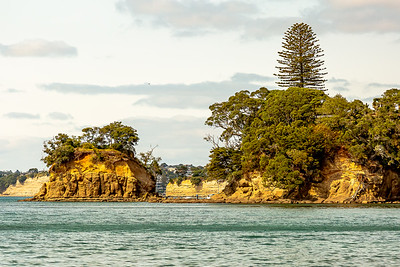 Looking across to Waikake Bay
