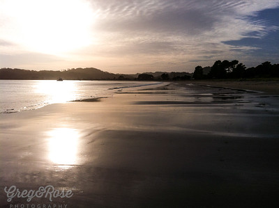 Cooks beach in the Early Morning Light