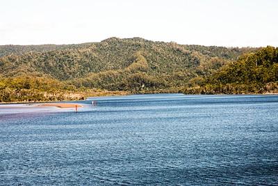 Entrance to the Gordon River world Heritage area , Tasmania.