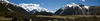 Panorama from our walk - the Footstool and Aoraki/Mt. Cook