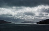 Ominous weather in Queen Charlotte strait, approaching Picton.