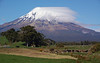 Taranaki from the north-west with windblown shawl