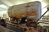 Kauri Museum: Kauri log on cart