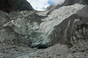 Glacier mouth with outflow