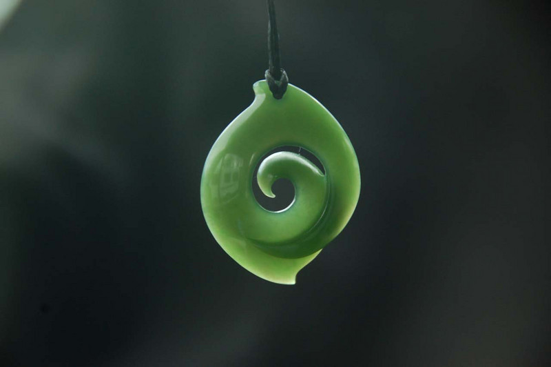 Marian's greenstone pendant -- why we returned to Havelock