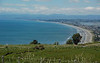 Bay of Plenty along Ohope Peninsula from viewpoint on hills behind Whakatane