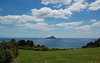 Bay of Plenty and Whale Island from viewpoint on hills behind Whakatane