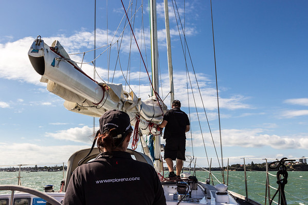 Readying the sail