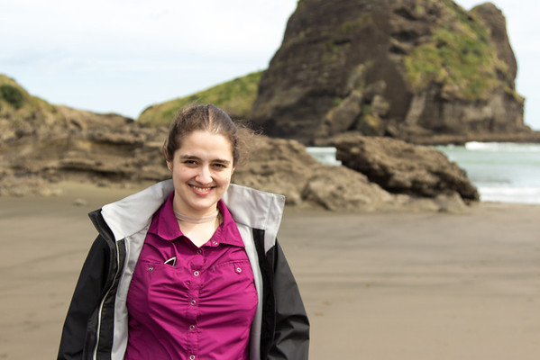 Felicity on Piha Beach