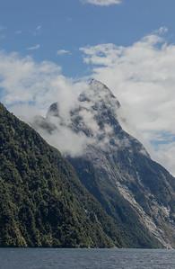 Mt Tutoko, Fiordland's tallest peak, Milford Sound.