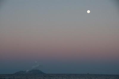 Approaching Whakaari, White Island Volcano.