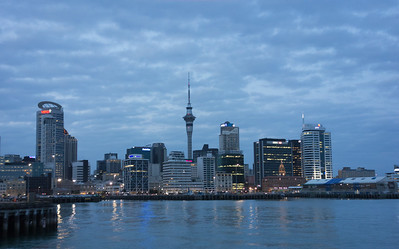 Auckland as viewed from the harbor.