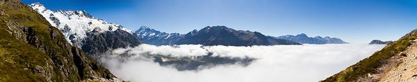 Sealy Tarns - panorama 1