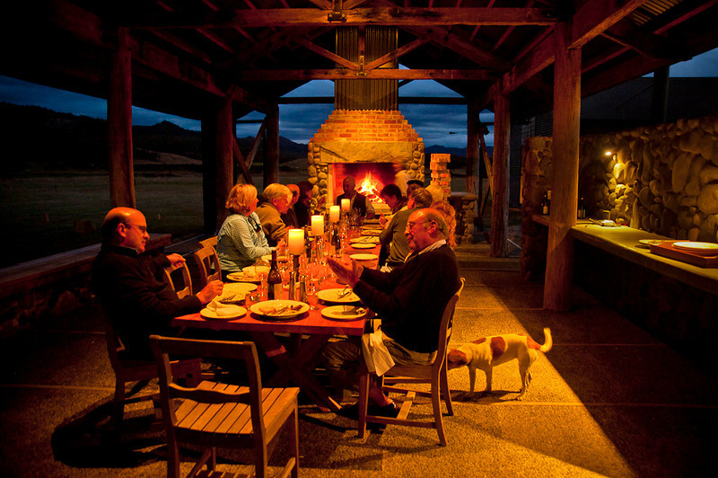 Dinner at the wine cellar
