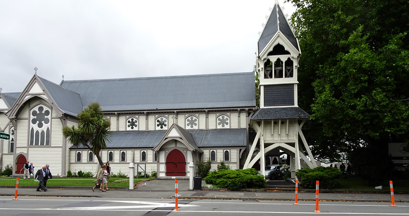 I was charmed by this church the last time I was in Christchurch.  I'm glad it survived the earthquakes.