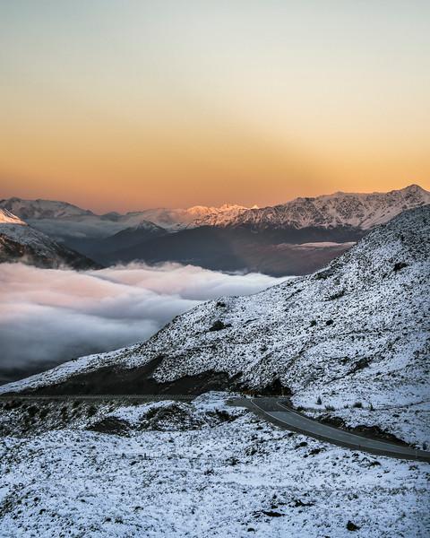 Sunrise over the Crown Range