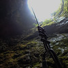 Caving in New Zealand. 170 meter rap down
