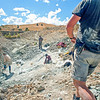 DSC_8950 New Zealand and Australian palaeontologists excavate 19-16 million-year-old (Early Miocene) lake-bed deposits near the Manuherikia River, St Bathans, Central Otago *