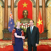 On 11 January 2017, our New Zealand Ambassador to Vietnam, H.E Wendy Matthews presented her credentials to President Tran Dai Quang. Proudly wearing the Korowai, the Ambassador was greeted by a guard of honour on the steps of the President's palace.<br /> Meeting President Tran Dai Quang, Ambassador Wendy thanked the President for his ongoing support for the New Zealand and Vietnam bilateral partnership. She noted the strong areas of existing cooperation in trade, education, agriculture, development assistance and defence, but emphasised that there was opportunity for greater deepening of the relationship in the future as New Zealand and Viet Nam build towards a Strategic Partnership. The good cooperation between New Zealand and Viet Nam in multilateral and regional fora was emphasised by both sides, with APEC and TPP as key priorities.<br /> We wish our newly-accredited Ambassador a great term ahead, and the New Zealand Embassy will work hard to continue to develop the linkages and friendship between Vietnam and New Zealand.<br /> Picture credit: Mr. Nhan Sáng