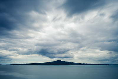 Rangitoto Island from Auckland's North Shore, long exposure