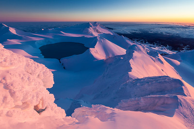 Crater Lake & summit plateau, Mount Ruapehu, Tongariro National Park