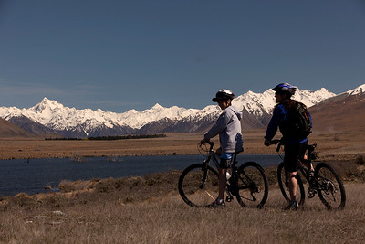 Mountain biking Hakatere Conservation Park, Canterbury , New Zealand  MR