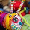 DSC_8101588  Caversham peripatus (Peripatoides 'Dunedin') Dunedin art teacher Kerry Mackay encourages children at Macandrew Bay School to think creatively, when making their own colourful 'peripatus' out of wool. Otago Peninsula *